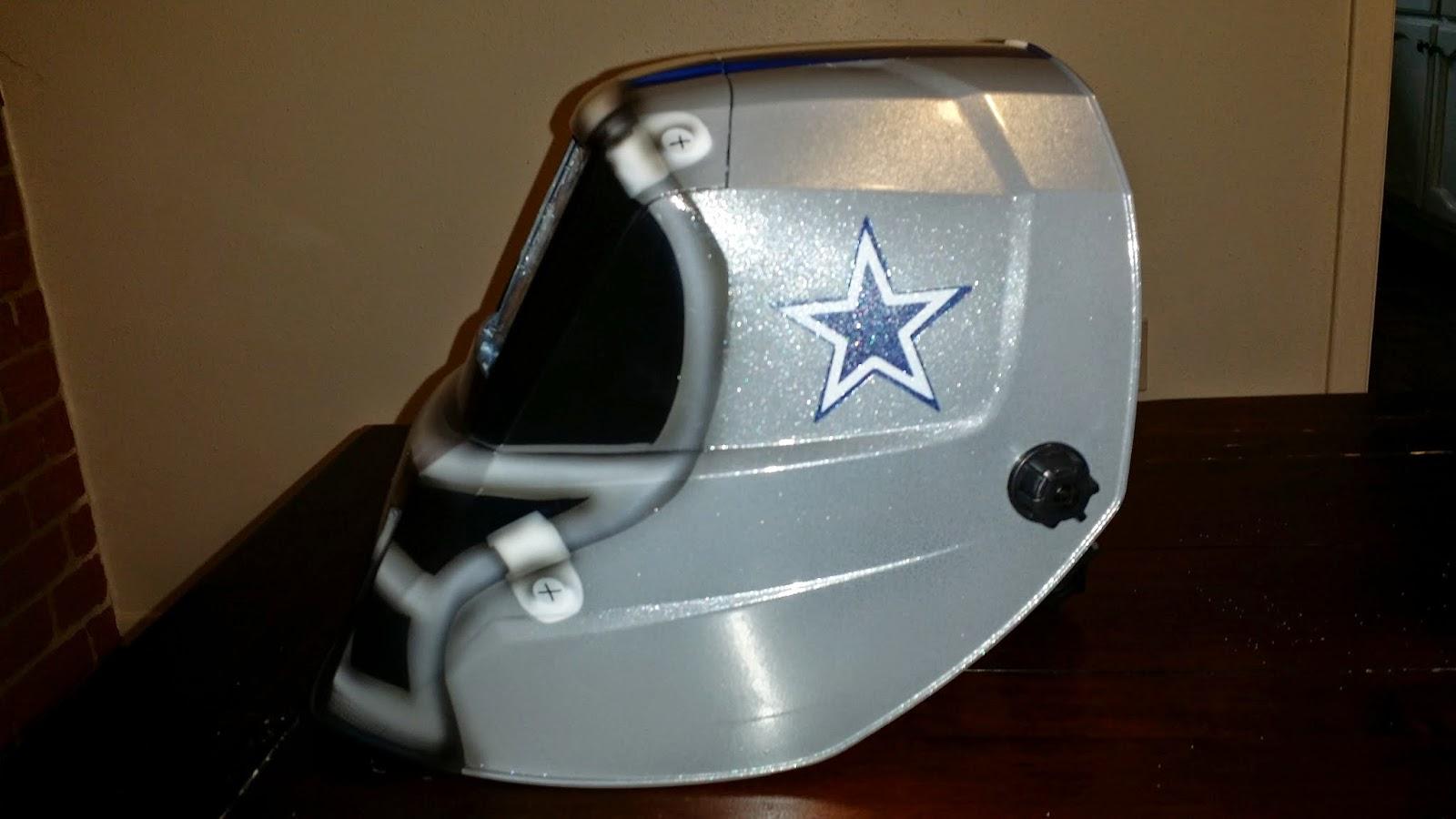 custom painted dallas cowboys welding helmet