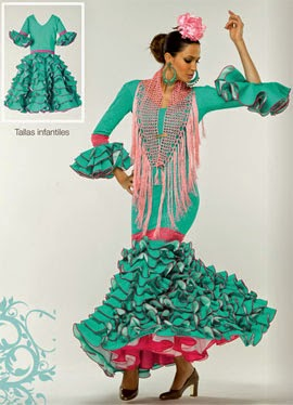 trajes de flamenca infantiles El Corte Inglés