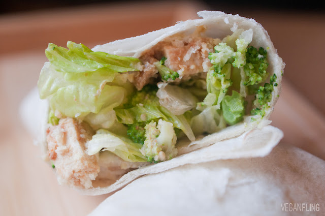 caesar salad tofu wraps 4 6 large tortillas or wraps