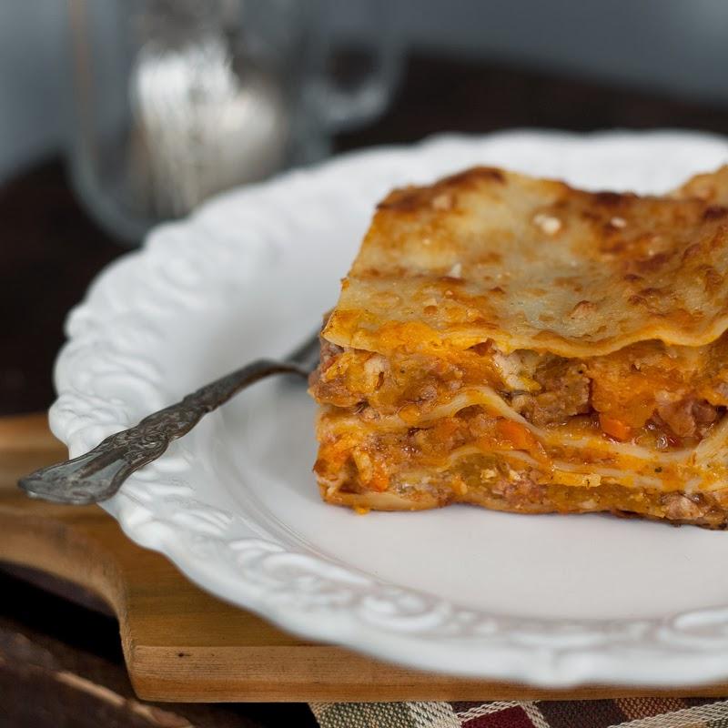 "Pumpkin Lasagne ""Bolognese"""