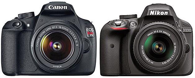 Canon EOS 1200D vs Nikon D3300, Canon EOS 1200D competencia, Nikon D3300, Nikon y Canon, cámara de DSLR de nivel de entrada, una cámara para principiantes, vídeo Full-HD,