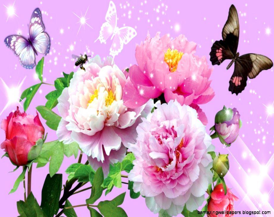 Beautiful Flowers And Butterflies Wallpapers   Our Garden Ideas