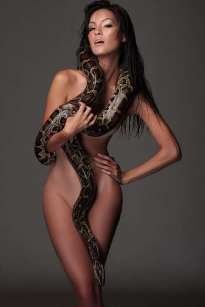 Nude Indian Girl With Snake Se