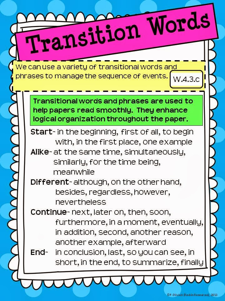 beginning transition words for essays Transitional words and phrases list it is always advisable to have a list of transition words for essays with you at the time of writing the essays there can be a time while writing the essay when a writer may feel to write any things but could no do so because of the unavailability of words.