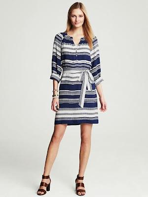 mavi renk elbise, beyaz elbise, çizgili elbise, kuşaklı elbise, kısa elbise, 2014 elbise modelleri