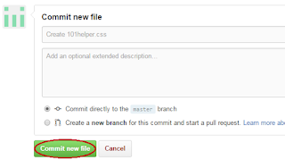 how to create file in github to speed up blogger