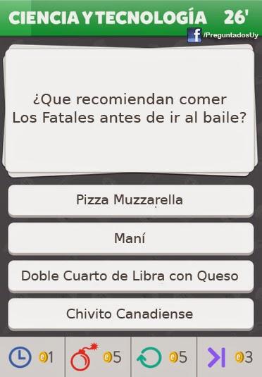 Meme Preguntados Uy  Los Fatales - Pizza Muzzarella