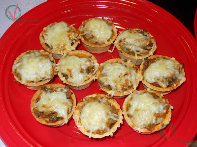 Tartaletas sicilianas de berenjenas.