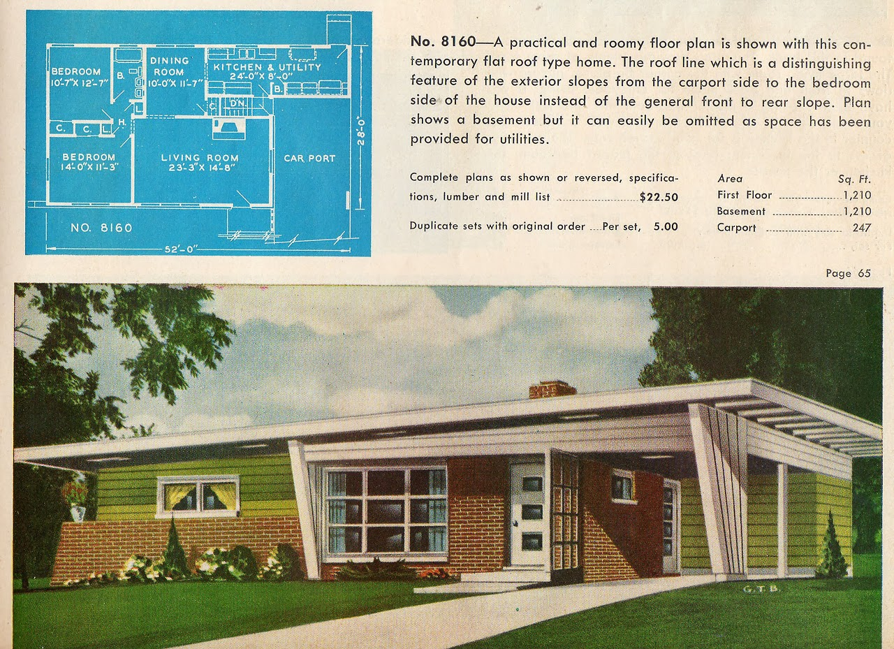 Mad for mid century atomic ranches with mid century doors for Mid century ranch house plans