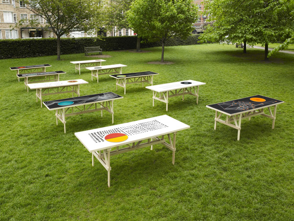 Ceramic Artist Lubna Chowdhary Designed A Series Of Ten Ceramic Tabletops  For A Special Installation During Clerkenwell Design Week 2013.