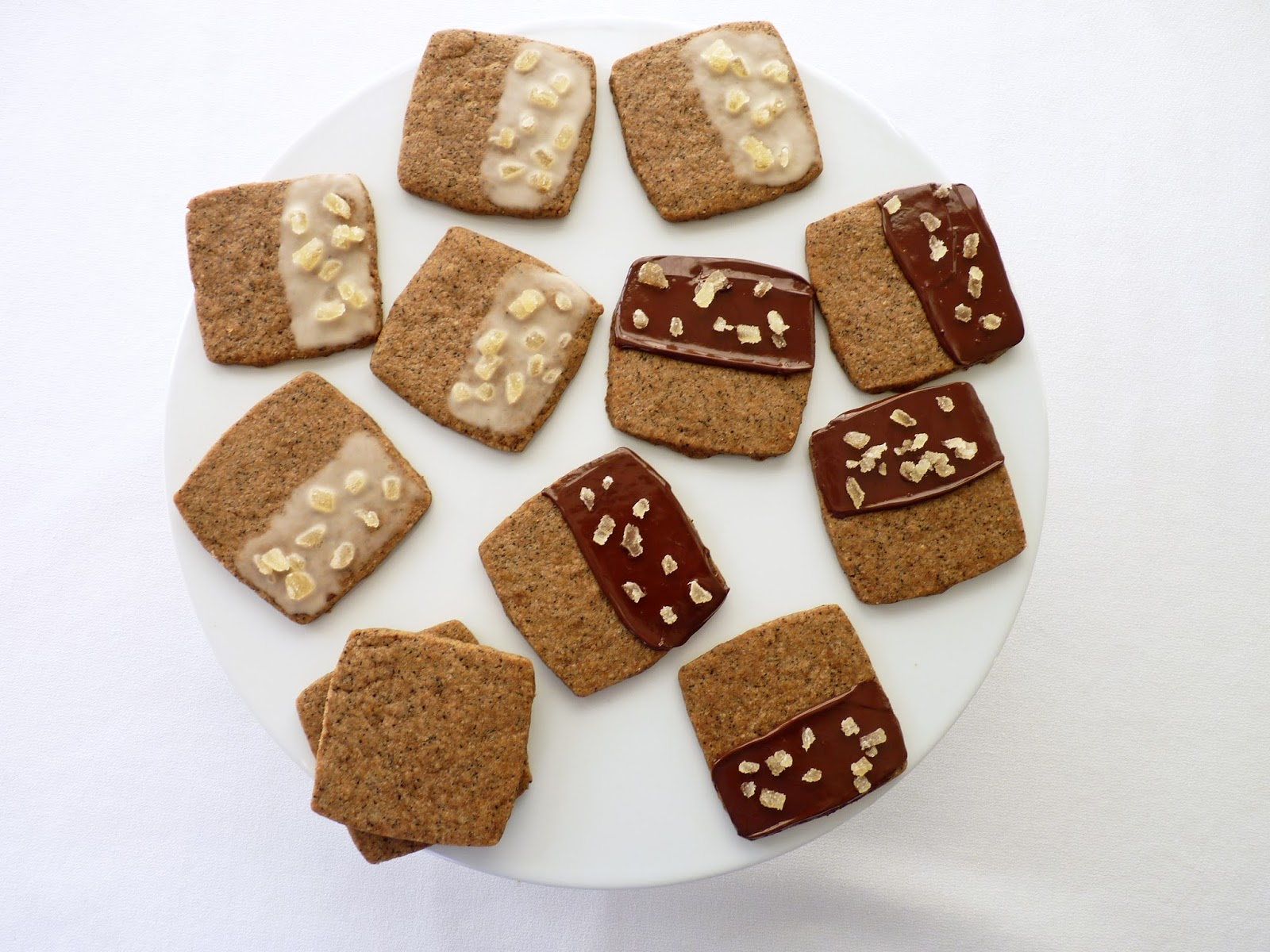 pastry studio: Coffee Spice Shortbread With Crystallized Ginger
