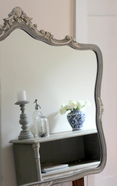 french painted ornate mirror lilyfield life blog