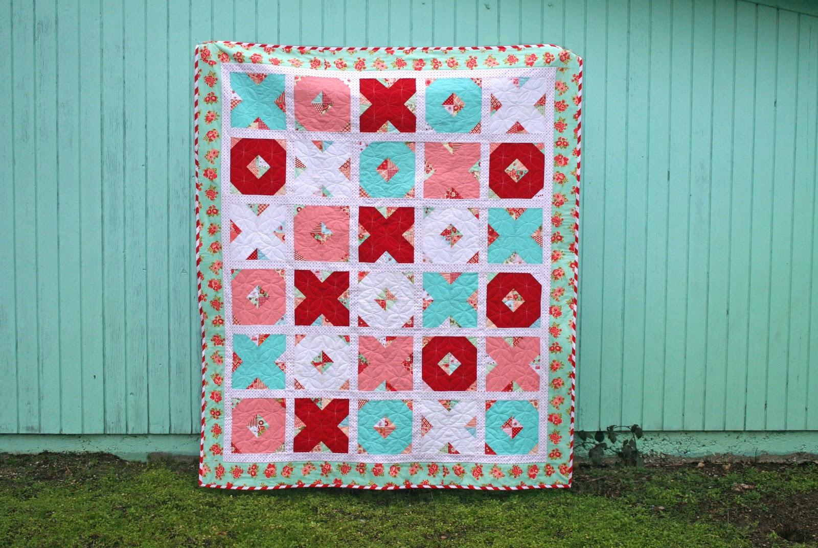 lovely little handmades: x's & o's quilt tutorial : charm pack quilt patterns free - Adamdwight.com