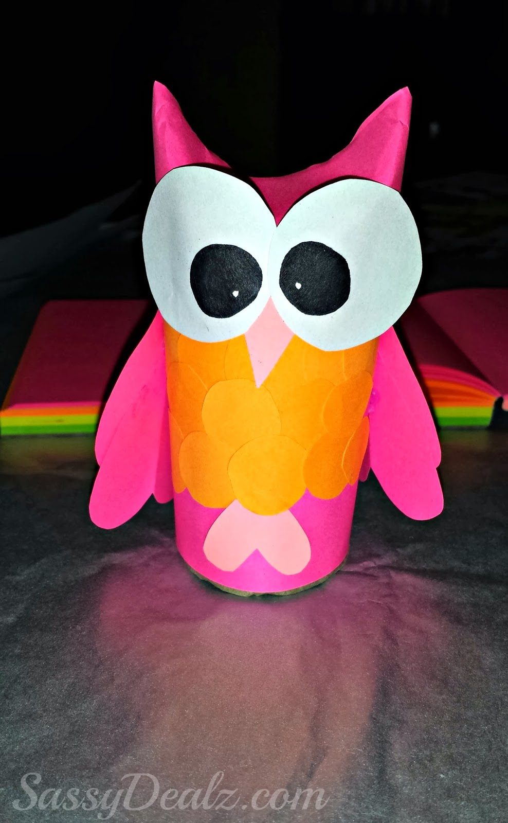 Diy owl toilet paper roll craft for kids crafty morning for Fun crafts with toilet paper rolls