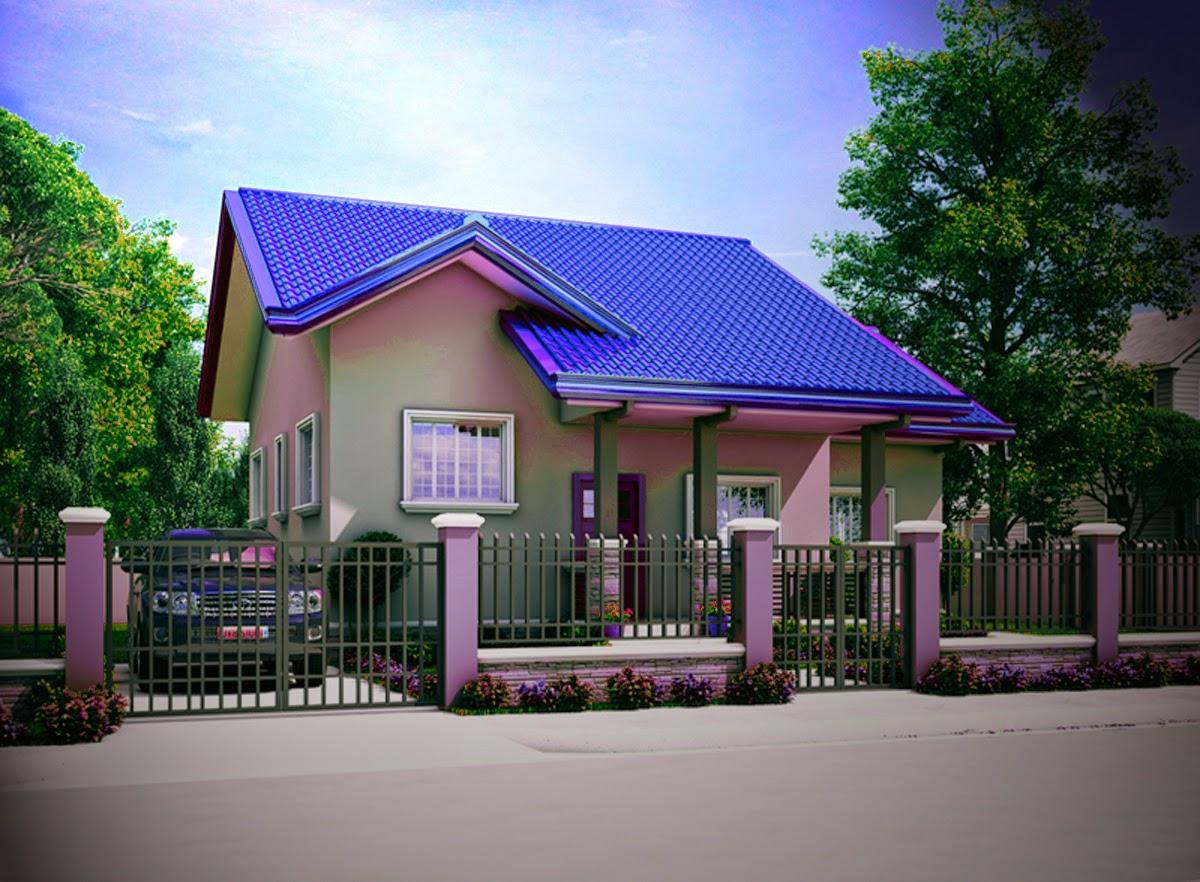 fasad desain rumah minimalis type 45