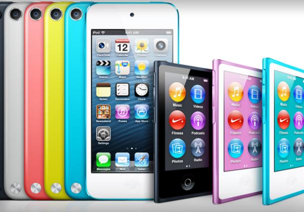 ipod touch 2012 + ipod nano 2012