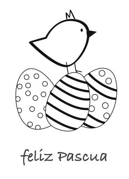 dibujo Pascua gratis colorear