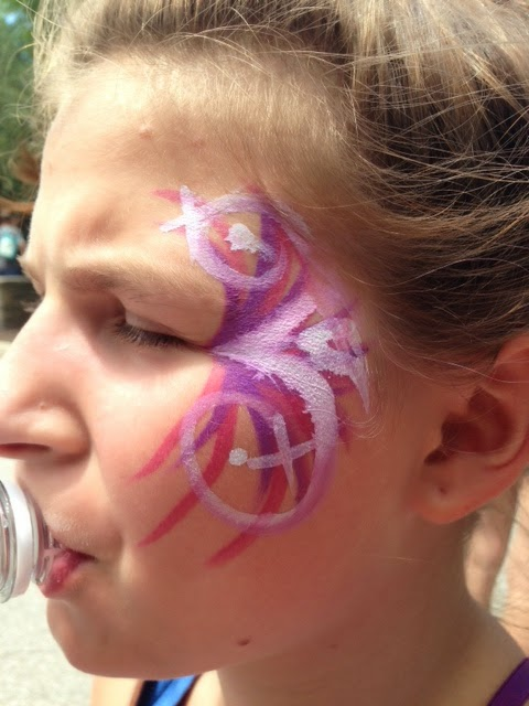 Ellie's face paint.