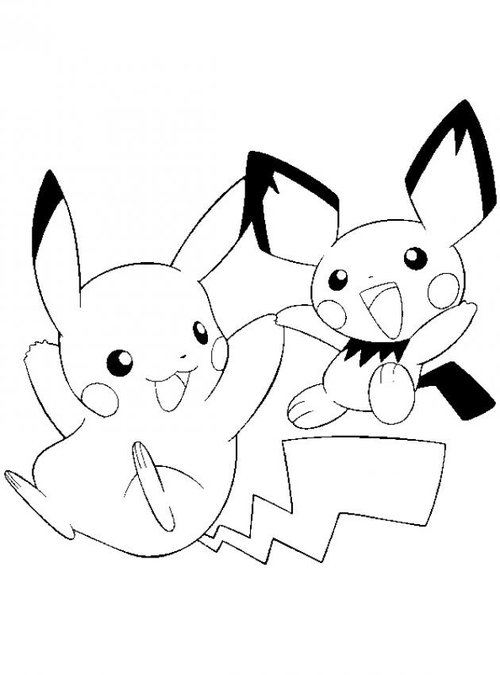 Pikachu coloring pages printable for kids disney for Pikachu printable coloring pages
