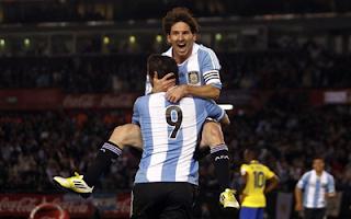 أهداف مباراة الارجنتين والاكوادور 4-0 في تصفيات كأس العالم 2-6-2012