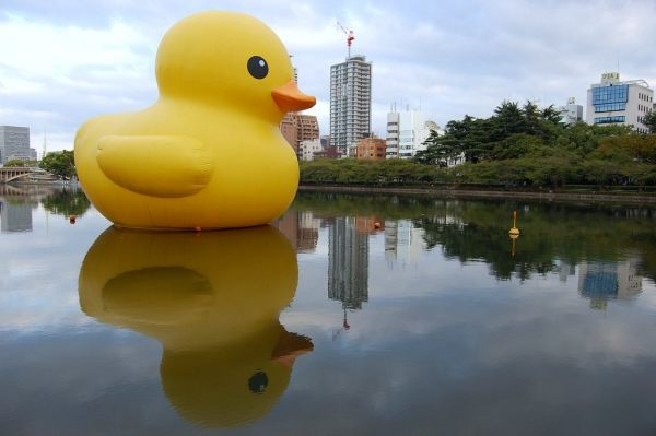 Laugh Gags World Journey Of A Giant Inflatable Duck