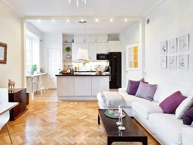 decoracao de sala e cozinha juntas:Small Open Kitchen Living Room Design Ideas