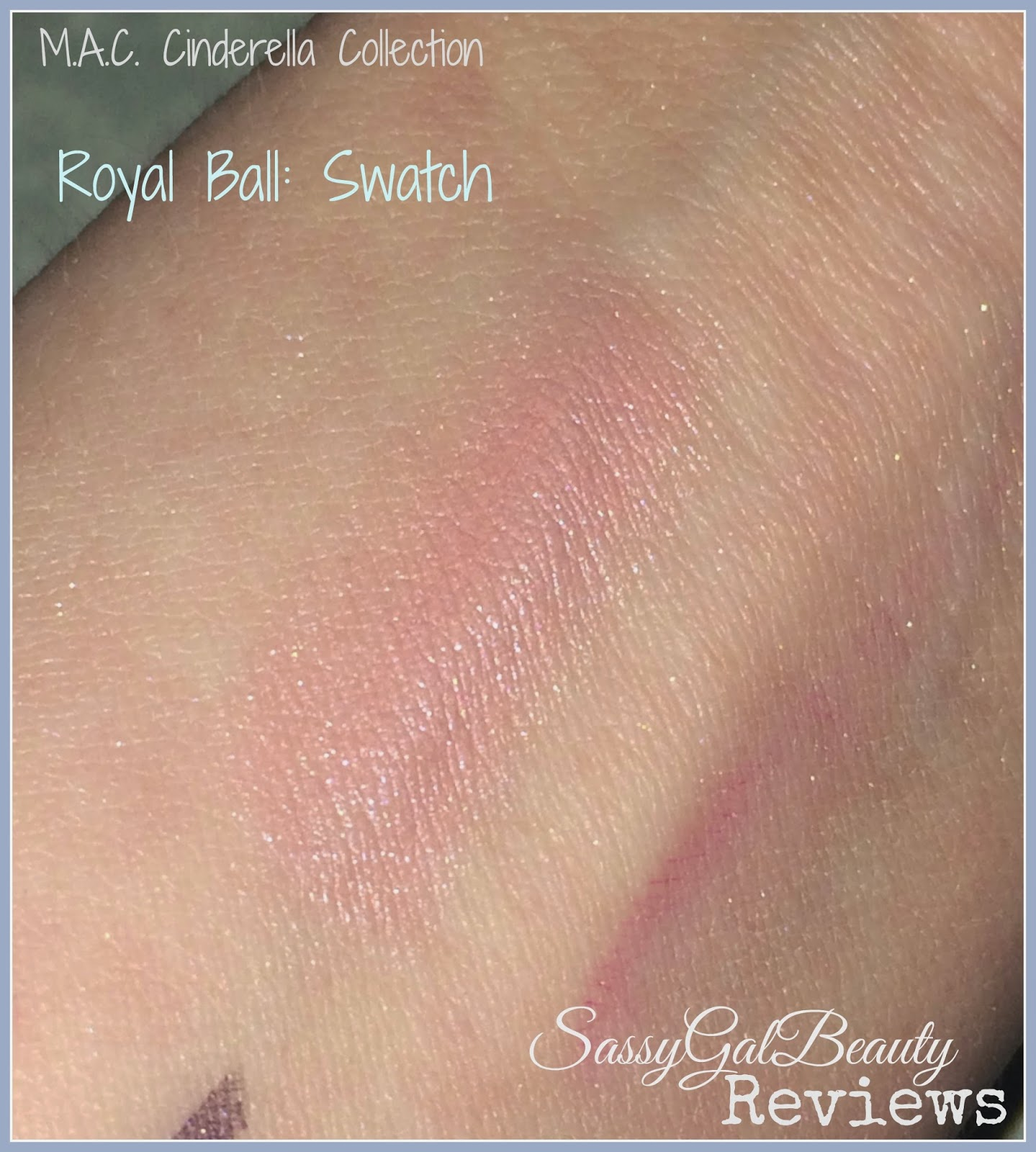 M.A.C. Cinderella Collection: Royal Ball Lipstick Swatch