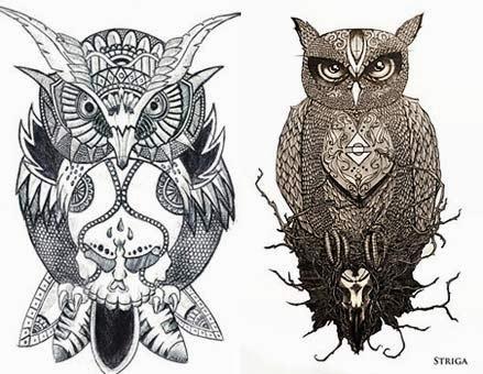 Desenhos legais de tatuagens de coruja