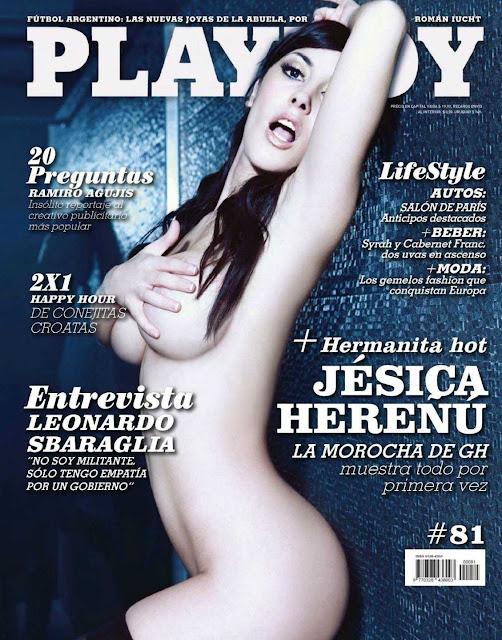Confira as fotos a gata do Big Brother Argentina,  Jésica Herenú, capa da Playboy Argentina de setembro de 2012!