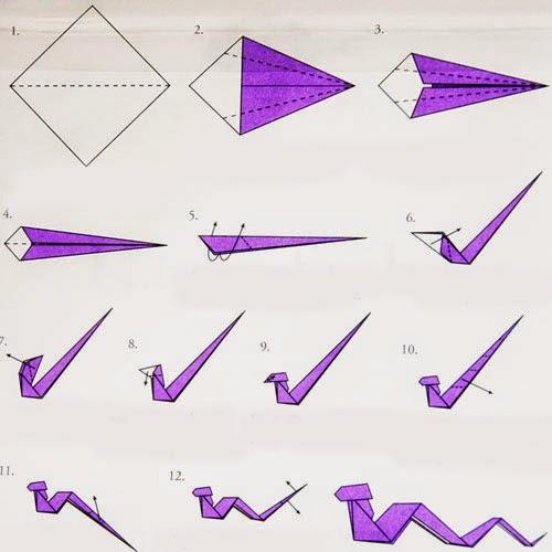 Как сделать змею из бумаги своими руками видео