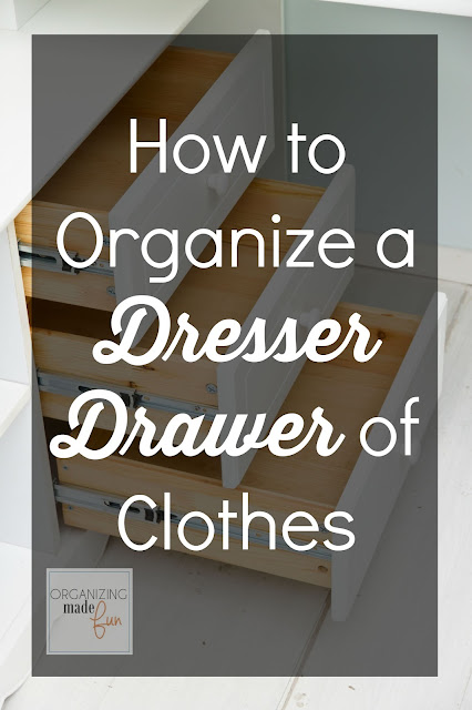 How to Organize a Dresser Drawer of Clothes :: OrganizingMadeFun.com