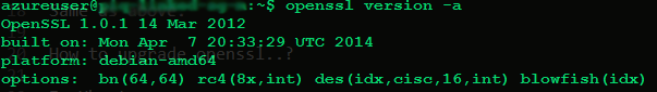 OpenSSL New Version