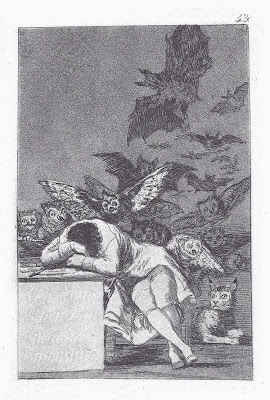 'El sueño de la razón produce monstruos' - Grabado nº 43 de 'Los Caprichos' de Francisco de Goya