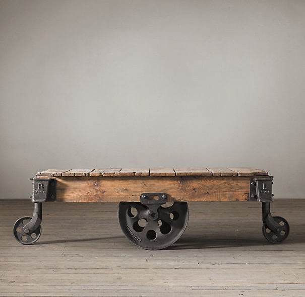 Cheap Factory Cart Coffee Tables: Whimsy Girl: Break The Bank Vs. Cheapskate: {Factory Cart