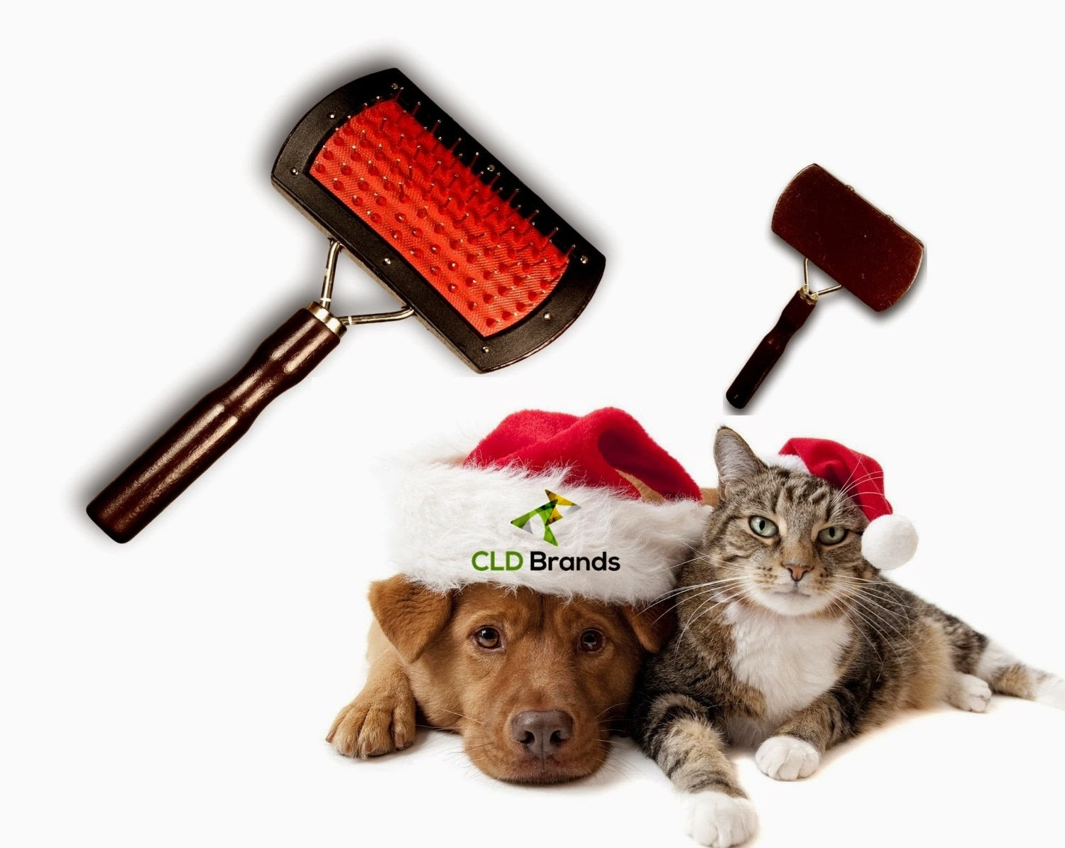 Merry Christmas - Deluxe Dog Pet Cat Grooming Brush