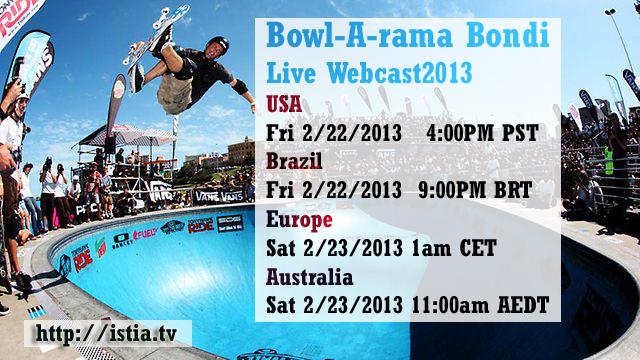 Bondi Bowl-A-Rama 2013 Live Webcast