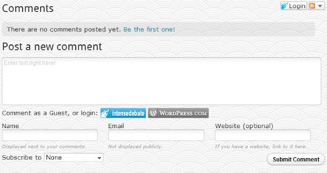 Cara mengubah kolom komentar di blogger menjadi seperti komentar wordpress