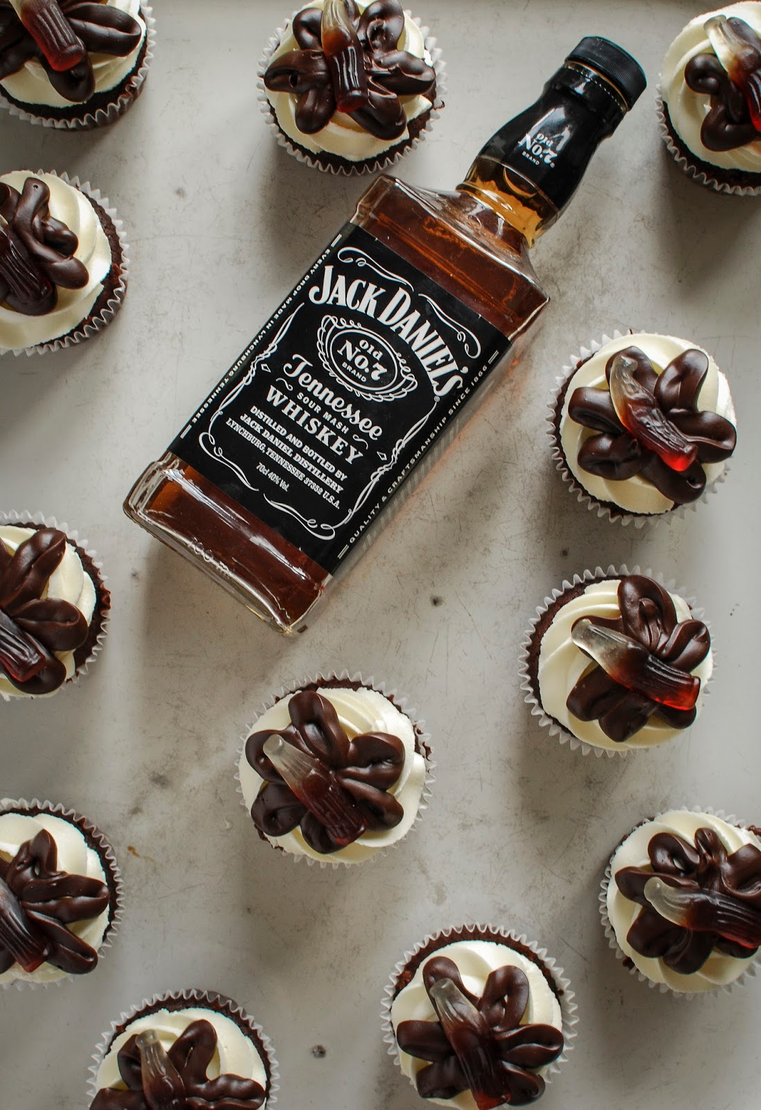 Jack Daniels, Whiskey Chocolate Cupcakes