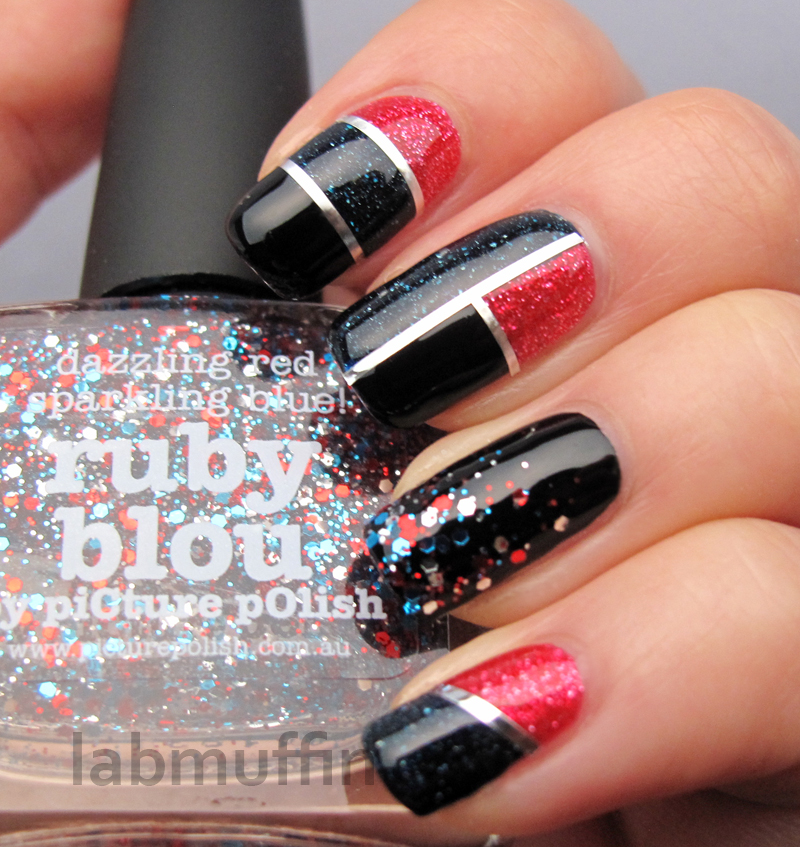 Striping Tape Nail Art Tutorial: Polish Or Perish: PiCture POlish Blog Fest 2013