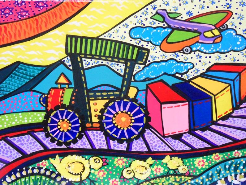 Pinturas de trenes infantiles imagui - Pintura infantil pared ...