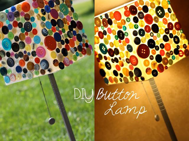 diy lámpara con botones