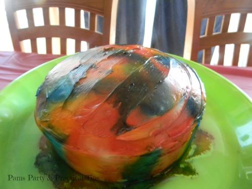 Rainbow Tie Dye Cake, Wilton Spray Mist, Rainbow Party Cake