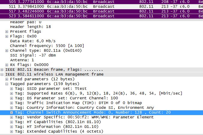 My WLAN blog: 802.11h in action
