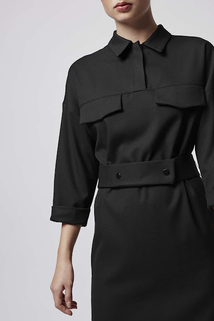 black utility dress, topshop boutique black dress, black utility shirt dress,