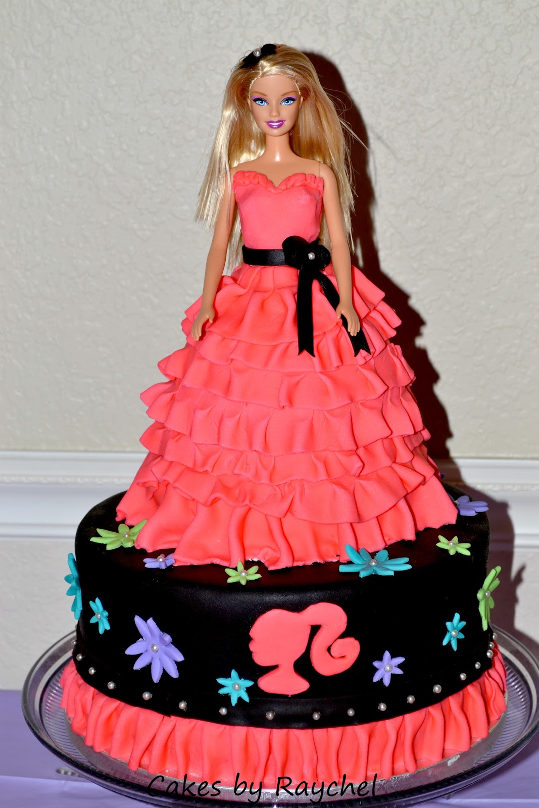 Cake Images Barbie : My Creative Way: Fondant Barbie Ruffle Cake. All Dolled Up ...