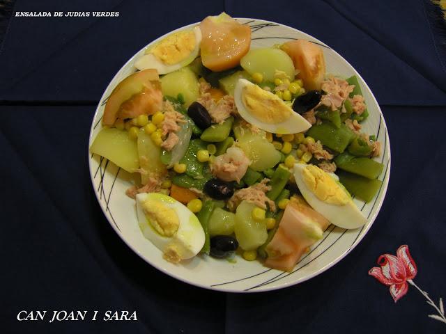 Ensalada de judias verdes recetas de cocina - Tiempo de coccion de judias verdes ...