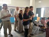 Team visiting classroom