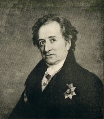 Johann Wolfgang von Goethe em 1819  - foto Louis Held-Weimar