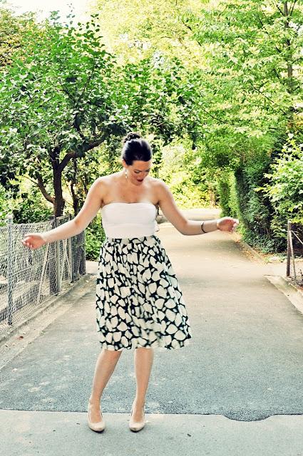 Outfit: Vintage Plissée Jupe by Devernois