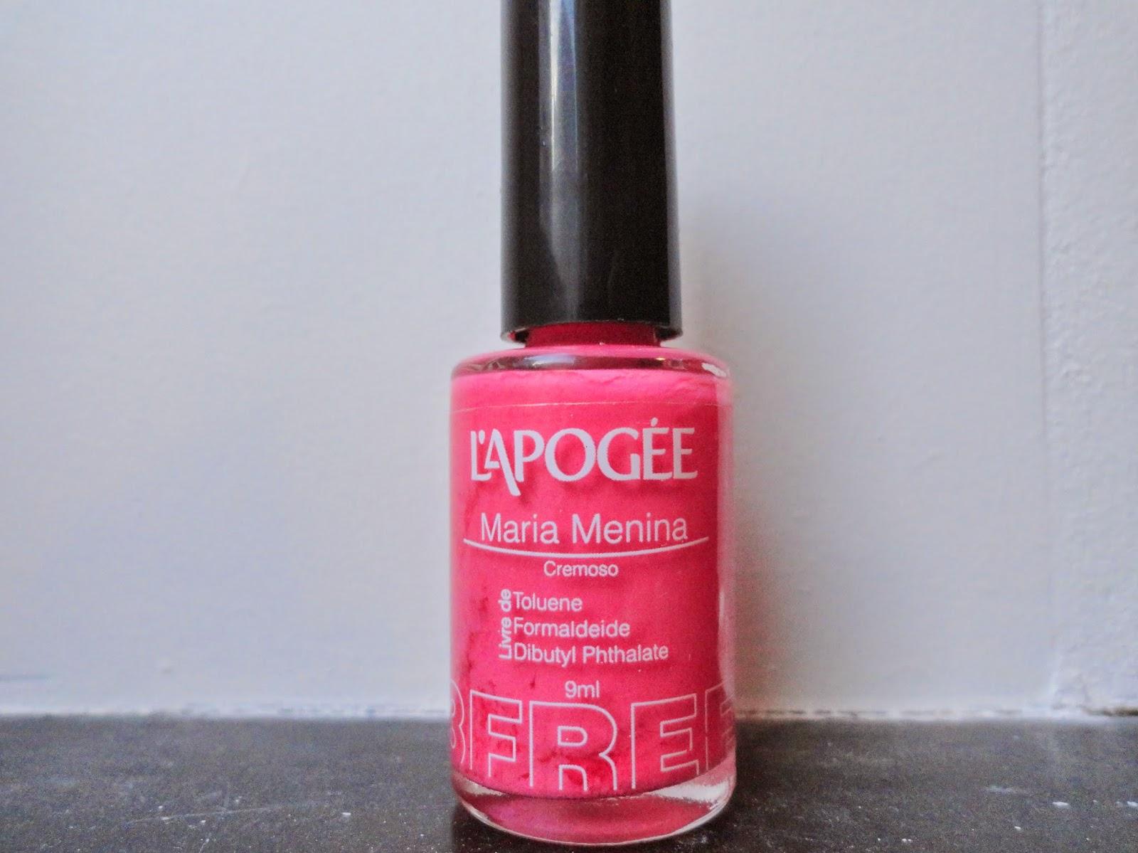Clothes & Dreams: NOTD: Filled neon triangle: neon pink nail polish L'Apogee Maria Menina cremoso
